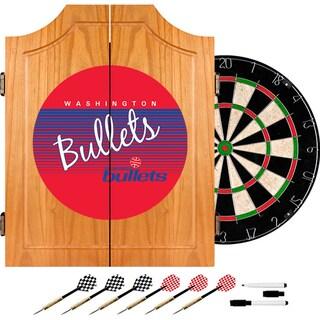 Washington Bullets Hardwood Classics NBA Wood Dart Cabinet