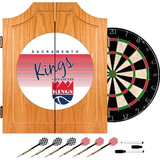 Sacramento Kings Hardwood Classics NBA Wood Dart Cabinet