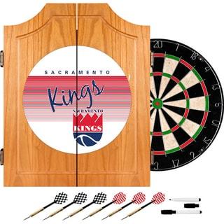 Sacramento Kings Hardwood Classics NBA Wood Dart Cabinet