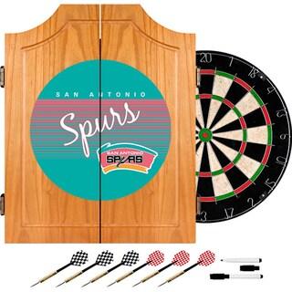 San Antonio Spurs Hardwood Classics NBA Wood Dart Cabinet