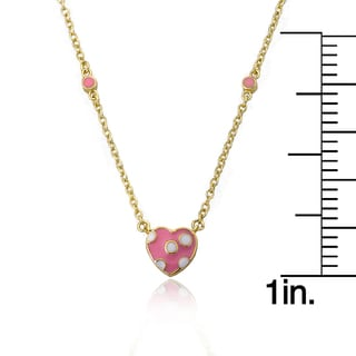 Charming Treats 14k Goldplated Pink Centered Lavender Butterfly with Pink Crystal Dangle Necklace