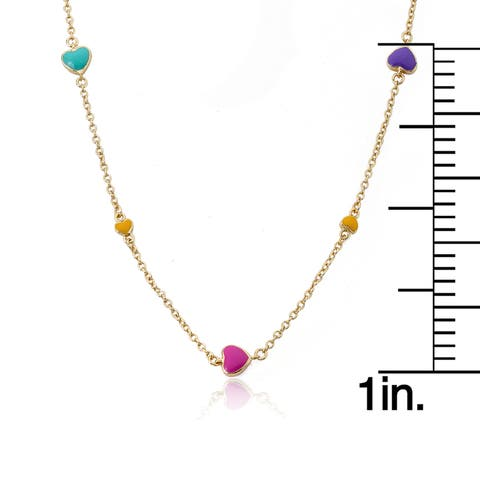 Charming Treats 14k Goldplated Flowers/ Butterflies/ Crystals Station Necklace