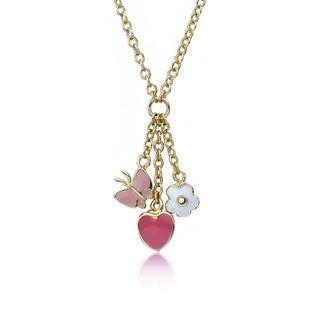 I Love My Jewels 14k Goldplated Triple Heart Center Necklace