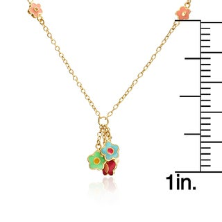 Cherry Chic 14k Goldplated Cherries Necklace