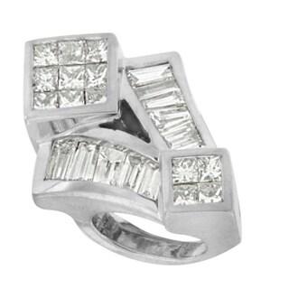 14k White Gold 1 5/8ct TDW Princess-cut Diamond Mixed Shape Pendant Necklace (G-H, VS1-VS2)