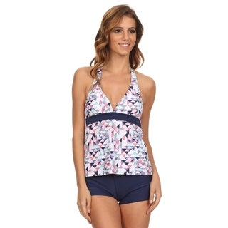 Dippin' Daisy's Women's Multicolor Triangle Two-Piece Tankini