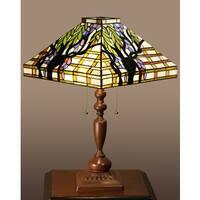 Ephraim 2-light Tree Tiffany-style Table Lamp