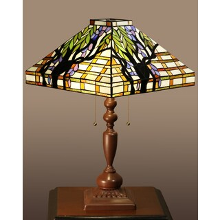 Ephraim 2-light Tree Tiffany-style Table Lamp