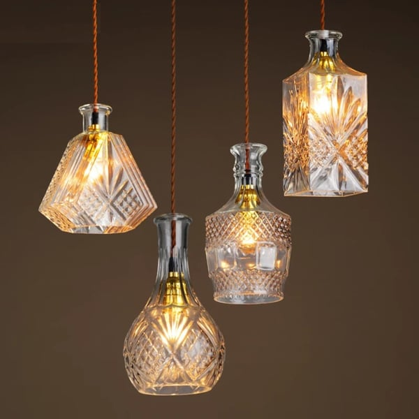 Makena 4-light Rose Glass Adjustable Cord Edison Chandelier with Bulbs