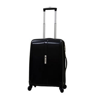 Samboro Shuttle Black 18-inch Carry On Expandable Hardside Spinner Upright Suitcase