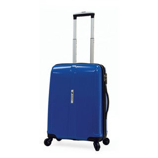 Samboro Shuttle Blue 18-inch Carry-on Expandable Hardside Spinner Upright Suitcase