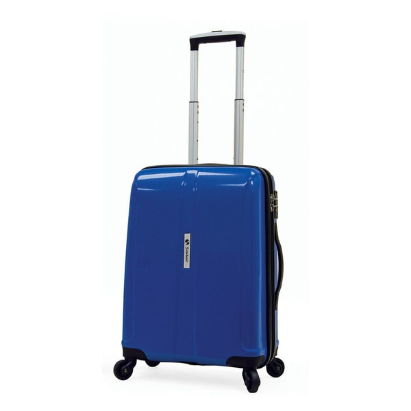 Samboro Shuttle Blue 18-inch Carry-on Expandable Hardside Spinner Upright Suitcase