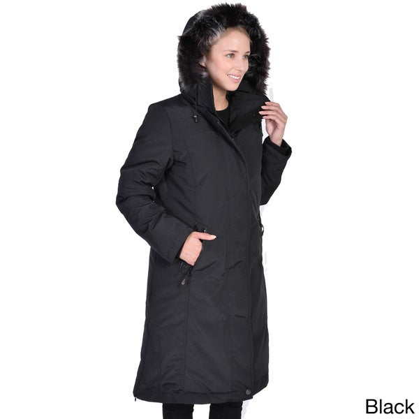 Women's Down Long Coat with Detachable Faux Fur Hood - Free ...