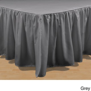 Brielle Essential Solid Color 15-inch Bed Skirt (More options available)