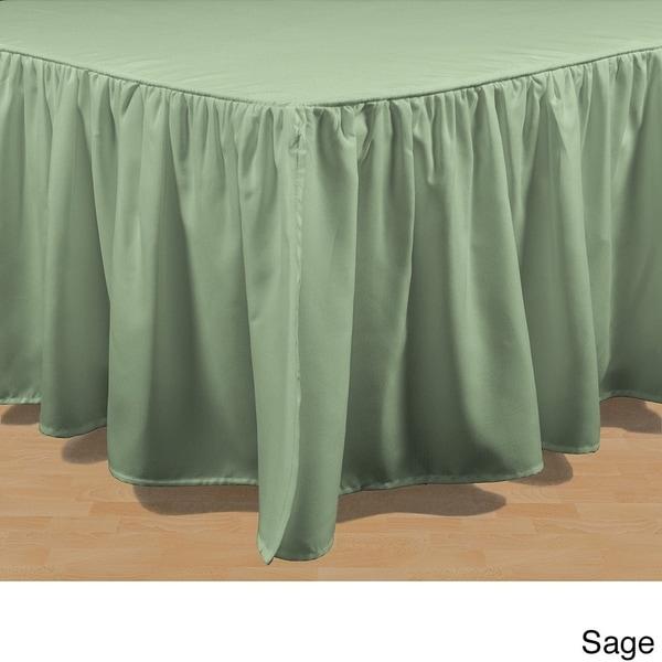 "10/""15/""20/""24/""27/""Drop Length Split Corners Bed Skirt 10 Colors All Size"