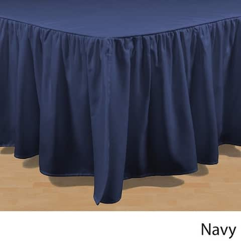 Brielle Essential Solid Color 15-inch Bed Skirt