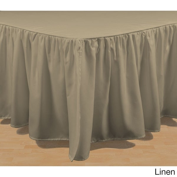 brielle essential solid color 15inch bed skirt free shipping on orders over 45