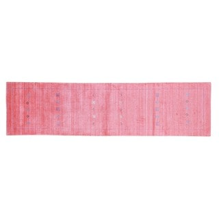 Handmade Runner Modern Gabbeh Rayon from Bamboo Silk and Wool Area Rug (2'7 x 10')
