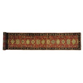 Hand-knotted  Karajeh Pure Wool Oriental Xl Runner Area Rug (2'8 x 15'10)