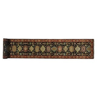 Hand-knotted Karajeh Pure Wool Oriental Xl Runner Area Rug (2'7 x 17'9)