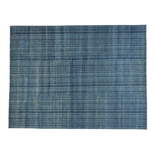 Hand-knotted Art Deco Design Wool Modern Area Rug (9' x 11'9)