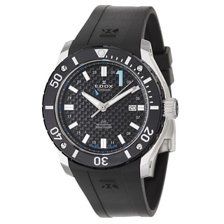 Edox Men's 93005-3-NBU Black Rubber Watch
