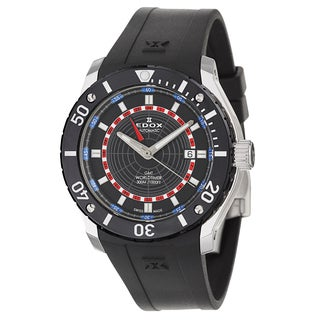 Edox Rubber Men's 93005-3-NBUR Black Watch