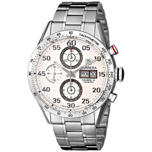 Tag Heuer Men's CV2A11.BA0796 'Carrera' Chronograph Automatic Stainless Steel Watch. Opens flyout.
