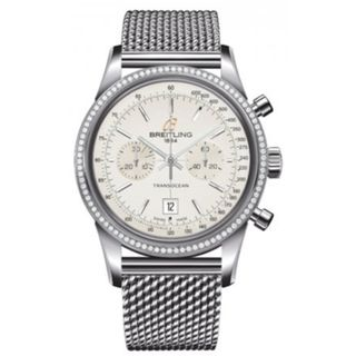Breitling Men's A4131053-G757 'Transocean' Chronograph Automatic Stainless Steel Watch