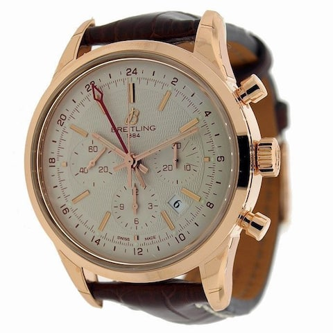 Breitling Men's RB045112-G773 'Transocean Limited' Chronograph Automatic Brown Leather Watch