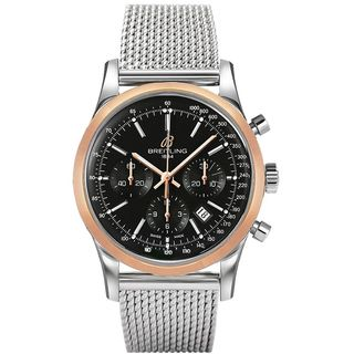 Breitling Men's UB015212-BC74 'Transocean' Chronograph Automatic 18kt Rose Gold Stainless Steel Watch