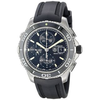 Tag Heuer Men's 'Aquaracer' Chronograph Automatic Black Rubber Watch