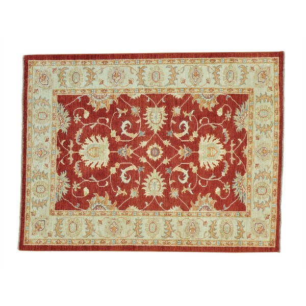 Hand-knotted Rich Red Area Rug Oushak High Quality - 2'4 x 20'1