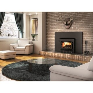 Century Wood Burning Fireplace Insert with Blower and Surround