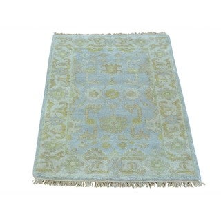 Hand-knotted Washed Out Oushak Oriental Area Rug (2'1 x 3')