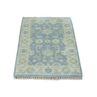 Handmade Washed Out Wool Oushak Oriental Area Rug (2' x 3')