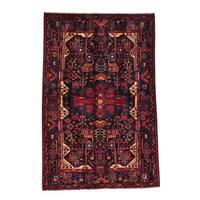 Hand-knotted Persian Nahavand Full Pile Oriental Area Rug (5'1 x 7'9)