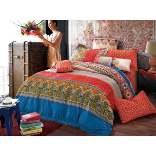 Sherry Kline Moroccan 3-piece Reversible Print Cotton Duvet Set