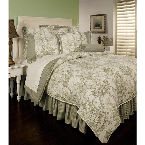 Shop Sherry Kline Country Toile Green 6 Piece Cotton