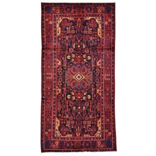 Handmade Persian Nahavand Pure Wool Oriental Area Rug (5'5 x 10'10)