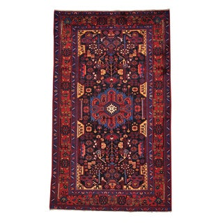 Handmade Persian Nahavand Full Pile Oriental Area Rug (5' x 8'5)