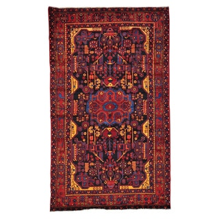 Handmade Full Pile Persian Nahavand Oriental Area Rug (5'6 x 9'5)