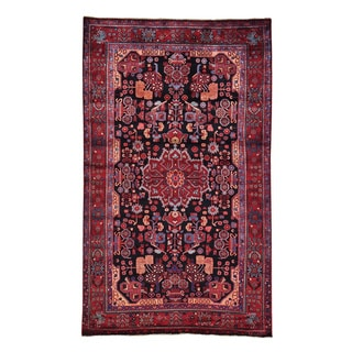 Hand-knotted Pure Wool Full Pile Persian Nahavand Area Rug (5'5 x 9'1)