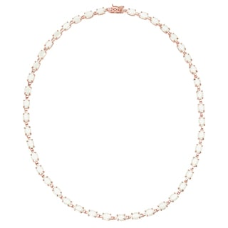 Dolce Giavonna Gold Over Sterling Silver Gemstone Necklace