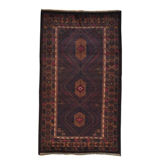 Hand-knotted Afghan Baluch Wool Oriental Area Rug (4'9 x 8'4)