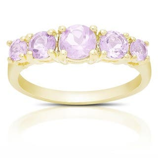 Dolce Giavonna Gold Over Sterling Silver Gemstone Five Stone Ring|https://ak1.ostkcdn.com/images/products/10672835/P17737175.jpg?impolicy=medium