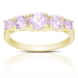 Dolce Giavonna Gold Over Sterling Silver Gemstone Five Stone Ring