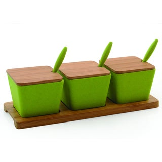 Cooknco Green 10-piece Jar Set