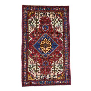 Handmade  Persian Nahavand Full Pile Oriental Area Rug (5' x 8'1)