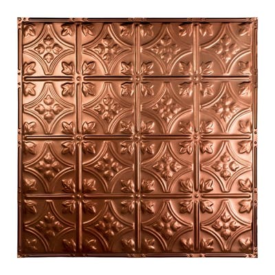 Great Lakes Tin Hamilton Vintage Bronze 2-foot x 2-foot Nail-Up Ceiling Tile (5 Pack)
